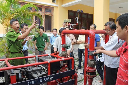 bào trì máy bơm chữa cháy diesel