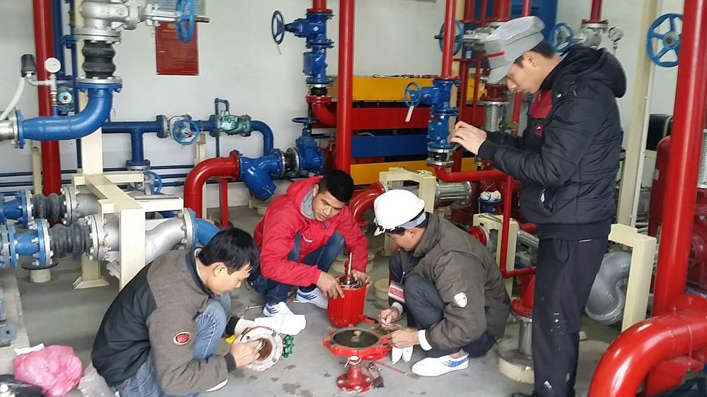 bảo dưỡng máy bơm chữa cháy mitsuky