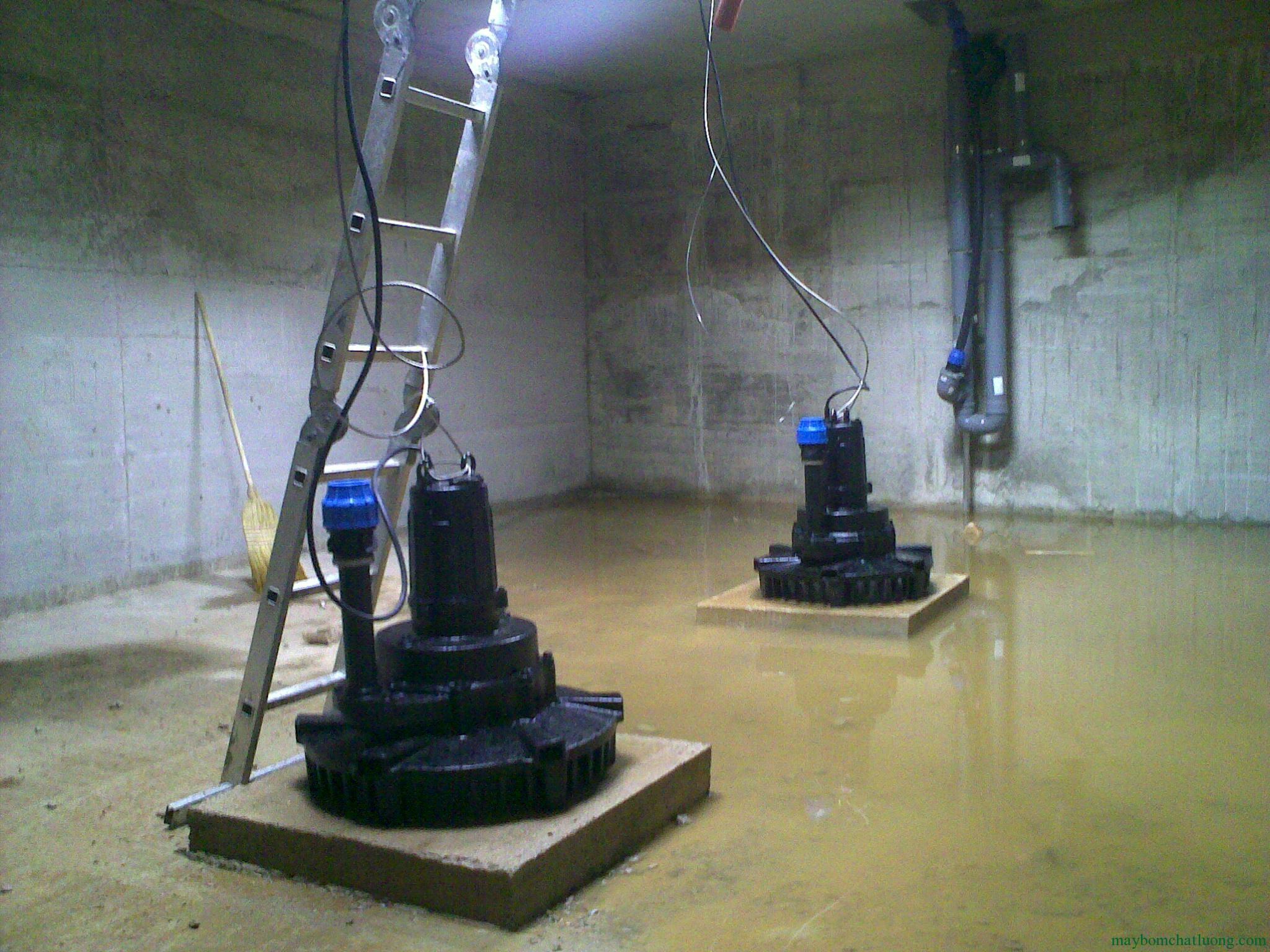 máy sục khí chìm